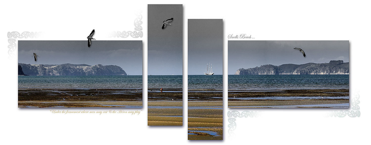 Snells beach and the Spirit of New Zealand. Photo art. from Matakana Coast and Country