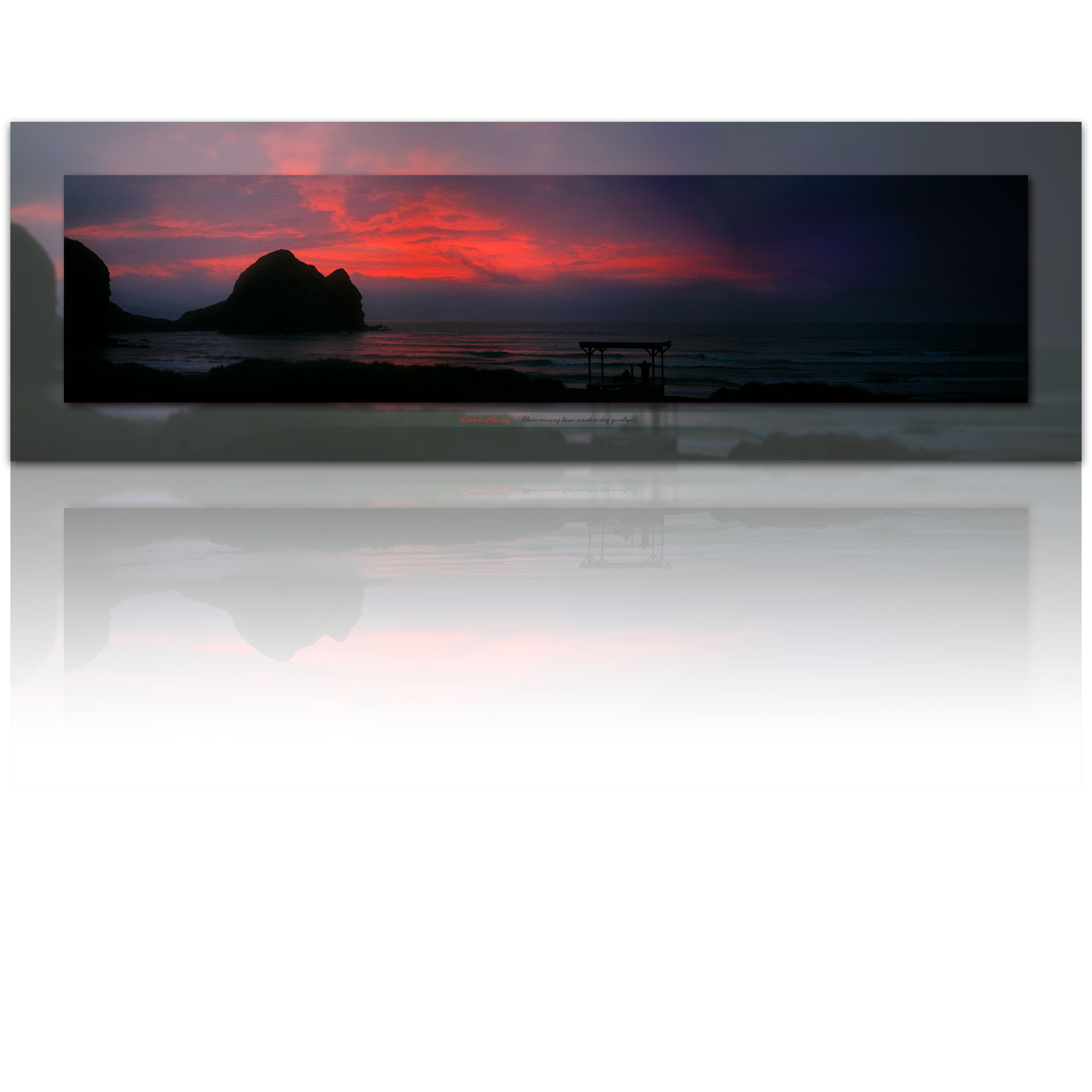 Piha sunset - Embers of the day - photo art