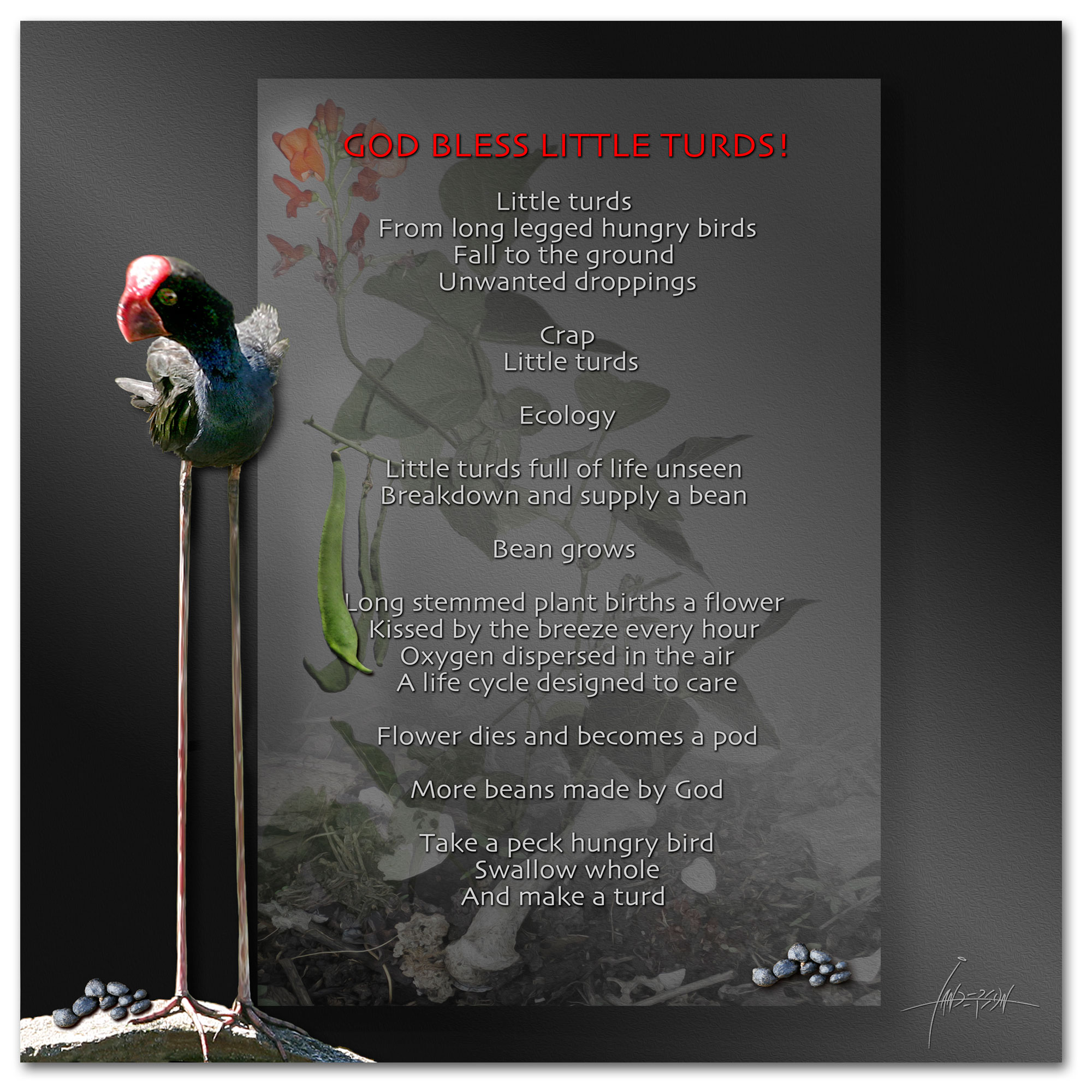Ecology Compost Poem God bless little turds - A poem with an ecological twist by Ian Anderson