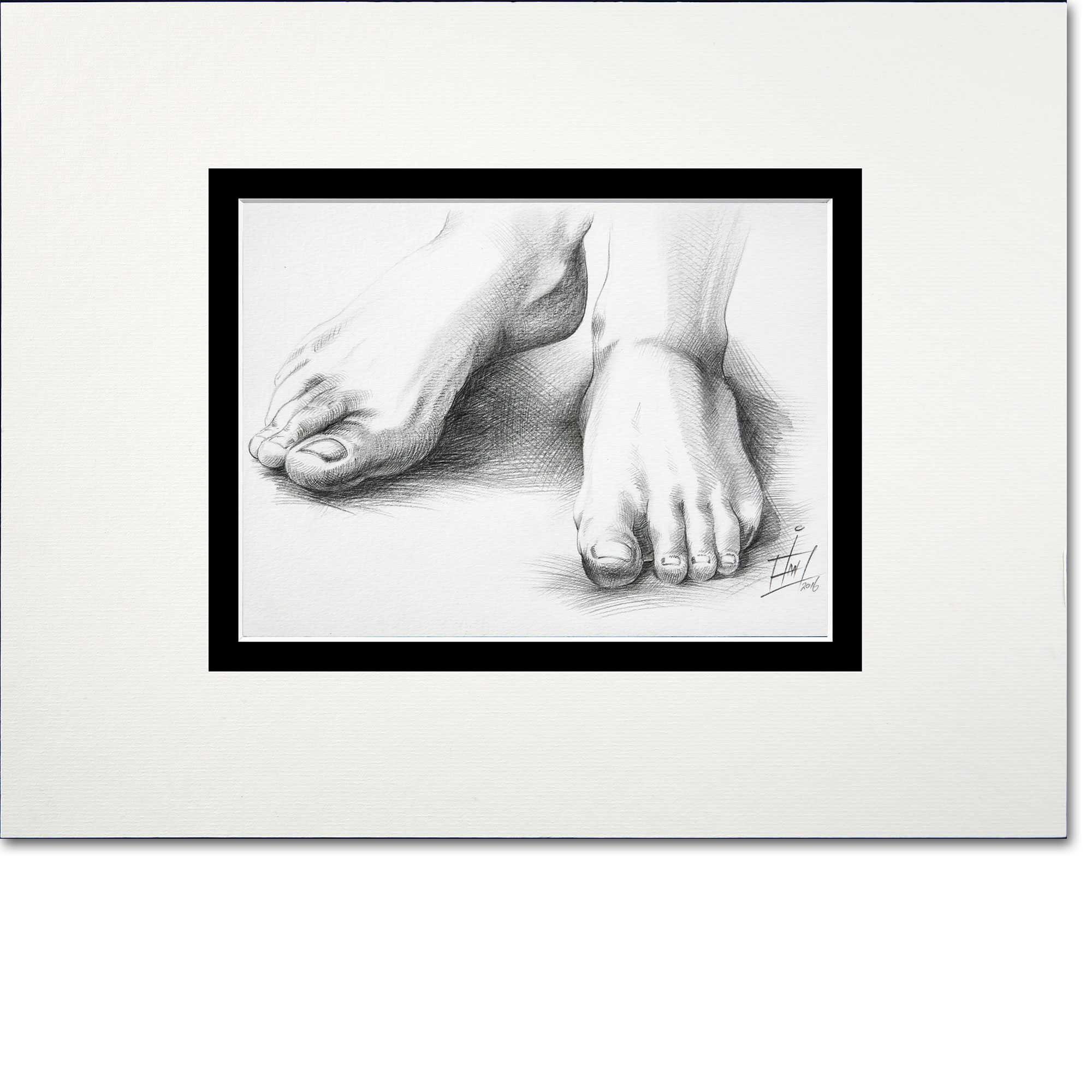 A pencil illustration of a person's feet. What News Do Your Feet Carry?