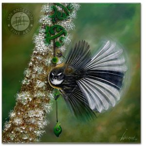 Fantail greenstone artisan manufacturer oil painting for exhibition