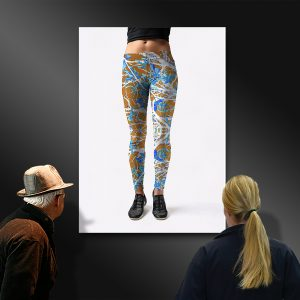 Women's fashion Leggings Front - Autumns Inversion