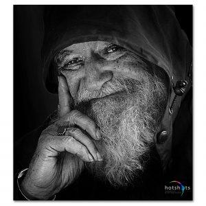 Studio portrait photography Black and white portrait photo art - Spider Awards nominee